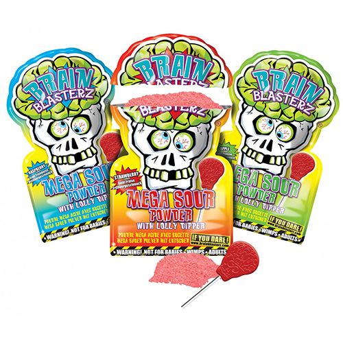 Image of   Brain Blasterz Lollipop and Sour Powder Dip