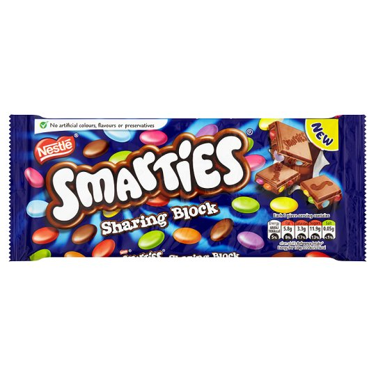 Smarties Milk Chocolate Bar 120G