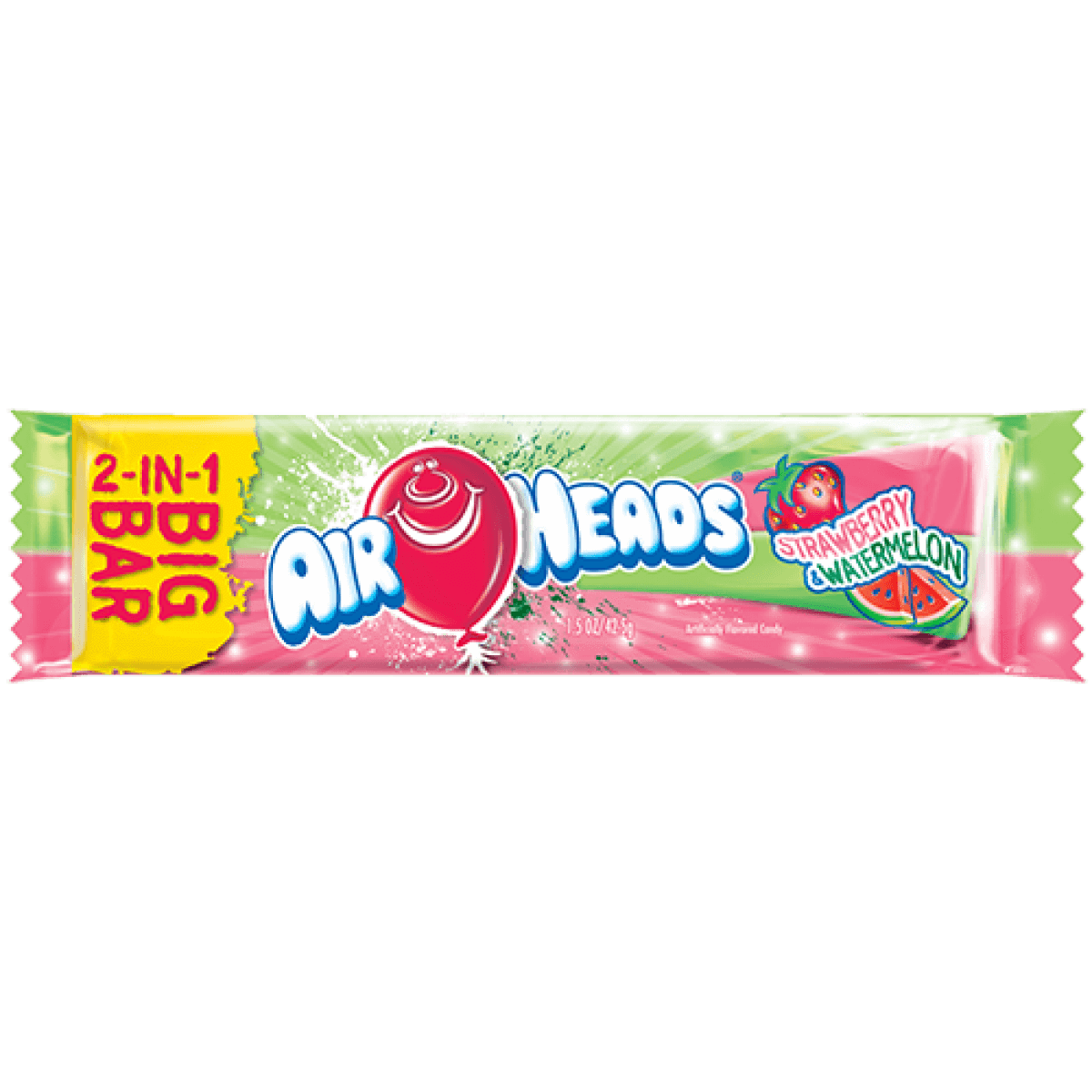 Image of Airheads Big Bar - Strawberry & Watermelon